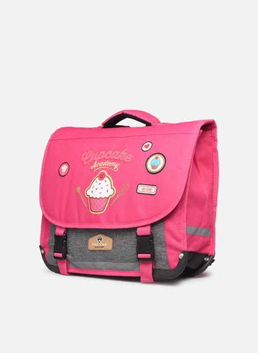 Skoletasker Pol Fox CARTABLE 38CM CLASSIQUE Pink se skoene på
