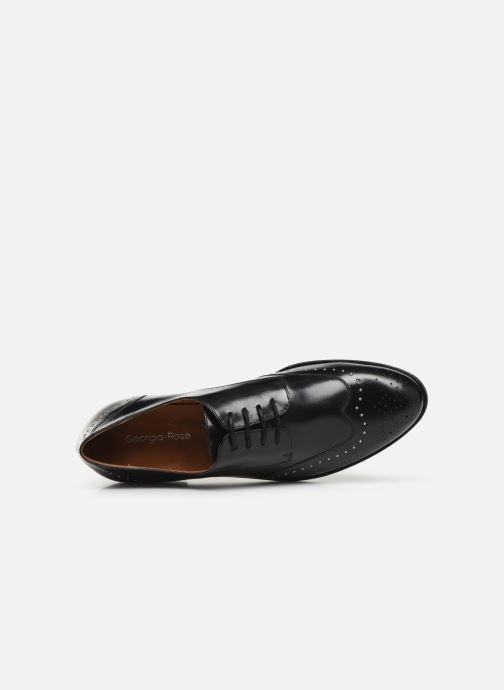 Zapatos con cordones Georgia Rose Edda Negro vista lateral izquierda