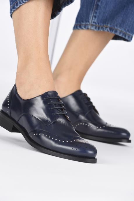 Zapatos con cordones Georgia Rose Edda Azul vista de abajo