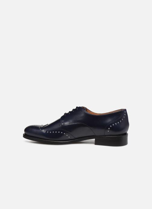 Zapatos con cordones Georgia Rose Edda Azul vista de frente