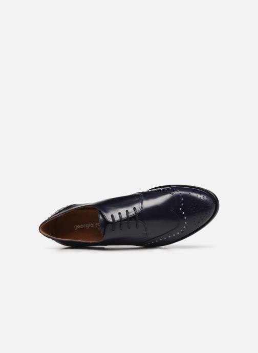 Zapatos con cordones Georgia Rose Edda Azul vista lateral izquierda