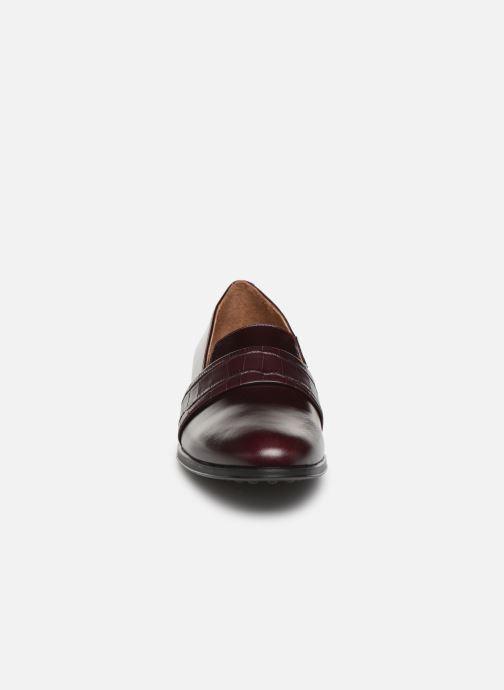 Mocassins Georgia Rose Elga Bordeaux vue portées chaussures