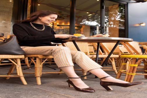 Zapatos de tacón Georgia Rose Ezila Marrón vista de abajo