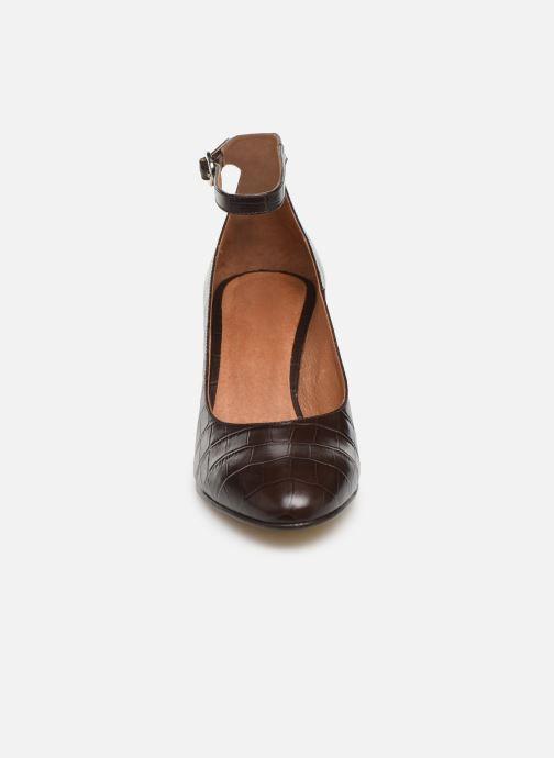 Escarpins Georgia Rose Ezila Marron vue portées chaussures