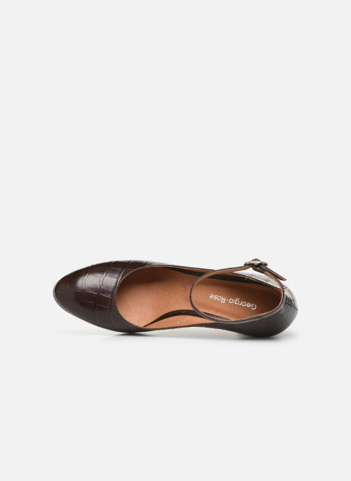Zapatos de tacón Georgia Rose Ezila Marrón vista lateral izquierda