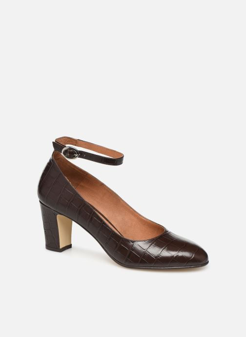 Høje hæle Georgia Rose Ezila Brun detaljeret billede af skoene