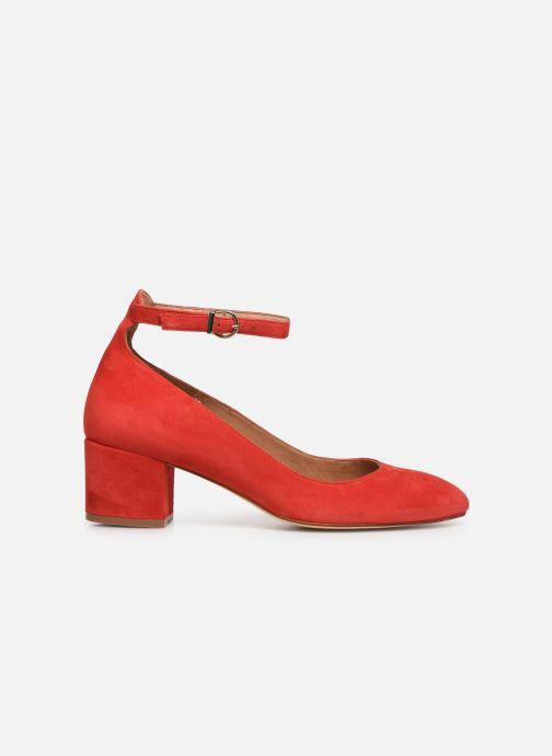 Zapatos de tacón Georgia Rose Exeri Rojo vistra trasera