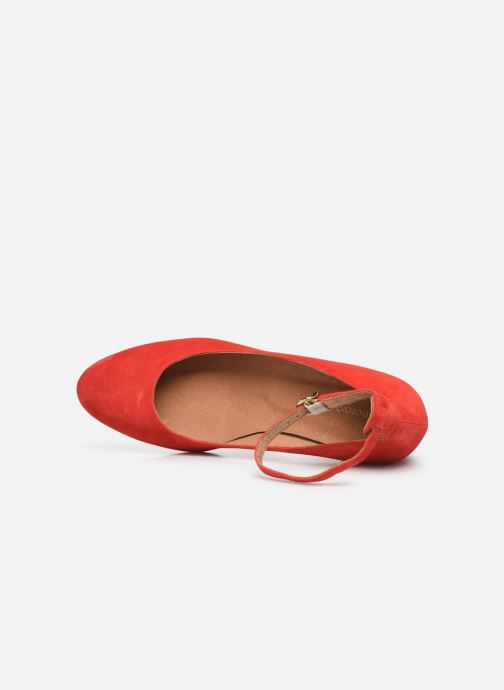 Zapatos de tacón Georgia Rose Exeri Rojo vista lateral izquierda