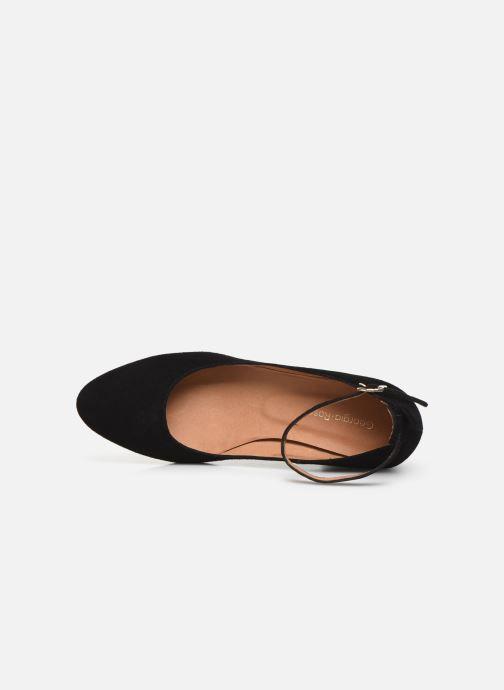 Zapatos de tacón Georgia Rose Exeri Negro vista lateral izquierda