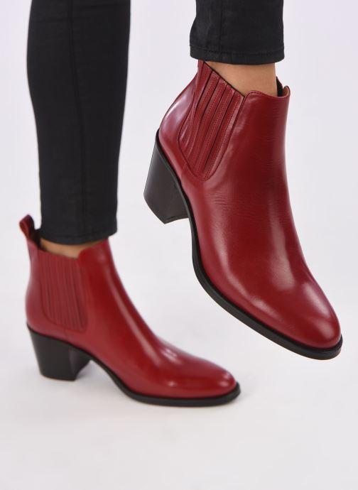 Bottines et boots Georgia Rose Echupa Rouge vue bas / vue portée sac