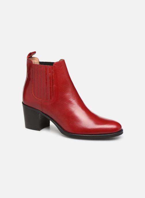 Ankelstøvler Georgia Rose Echupa Rød detaljeret billede af skoene