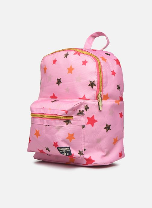Scolaire Shoesme STARS BACKPACK Rose vue portées chaussures