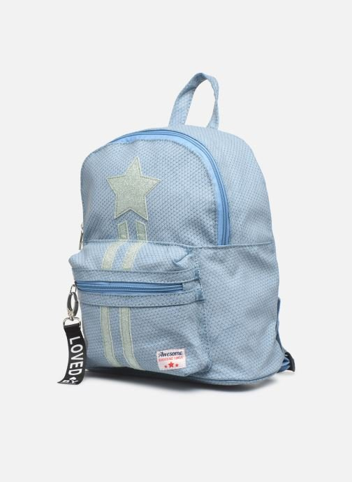 Scolaire Shoesme ONE STAR BACKPACK Bleu vue portées chaussures