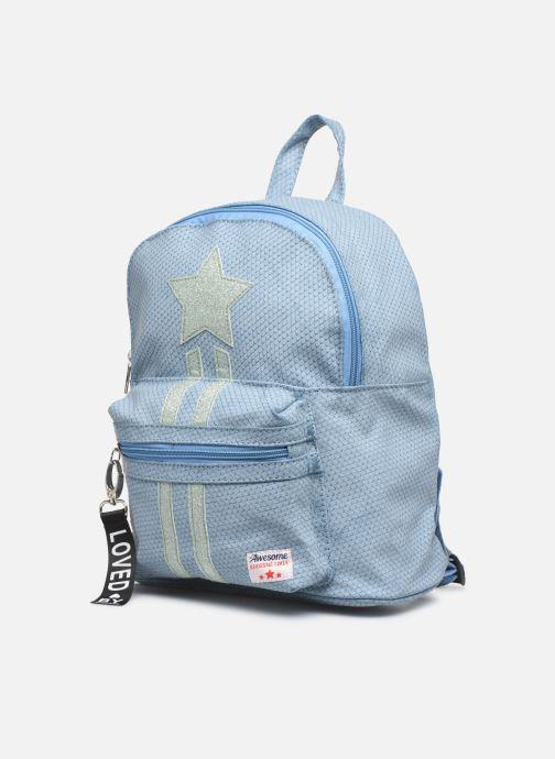 Per la scuola Shoesme ONE STAR BACKPACK Azzurro modello indossato