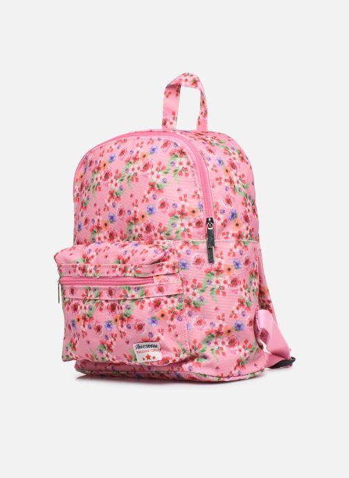 Per la scuola Shoesme PINK FLOWERS BACKPACK Rosa modello indossato