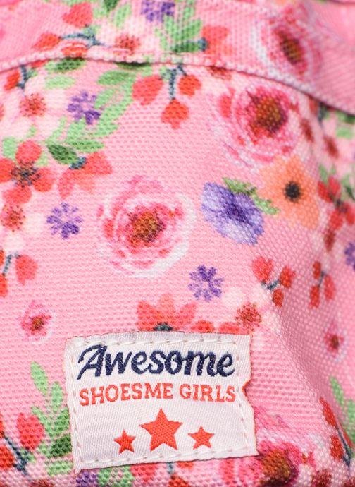 Bandoleras y Colegio Shoesme PINK FLOWERS BACKPACK Rosa vista lateral izquierda