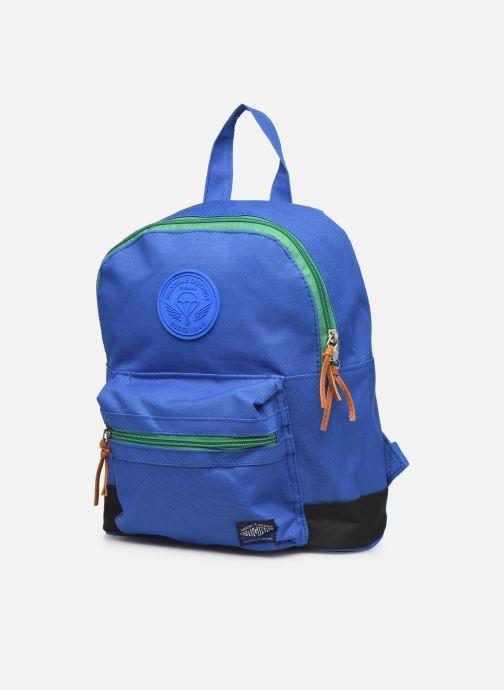 Per la scuola Shoesme BICOLORE BACKPACK Azzurro modello indossato