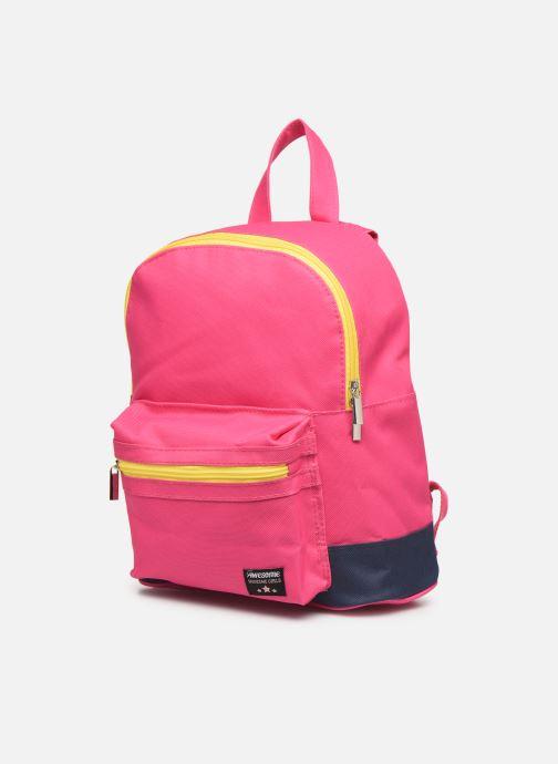 Per la scuola Shoesme BICOLORE BACKPACK Rosa modello indossato