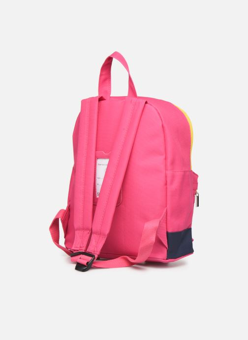 Bandoleras y Colegio Shoesme BICOLORE BACKPACK Rosa vista lateral derecha