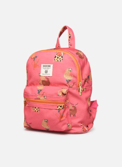Per la scuola Shoesme GIRAFE BACKPACK Rosa modello indossato