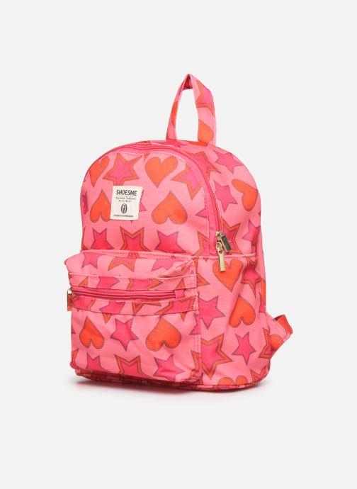 Per la scuola Shoesme HEART &STARS BACKPACK Rosa modello indossato
