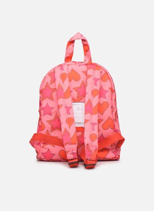 Per la scuola Shoesme HEART &STARS BACKPACK Rosa immagine frontale