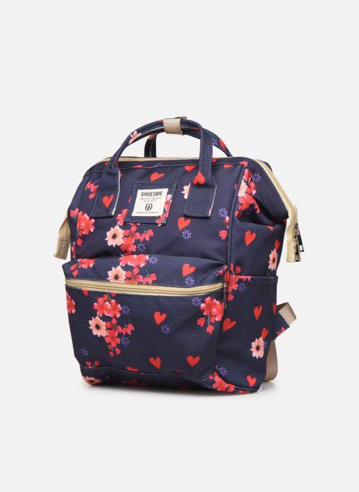 Per la scuola Shoesme FLOWERS BACKPACK Azzurro modello indossato