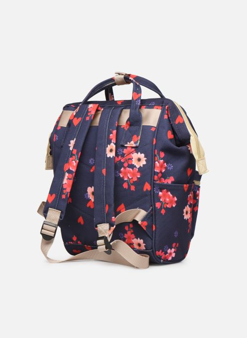 School bags Shoesme FLOWERS BACKPACK Blue view from the right