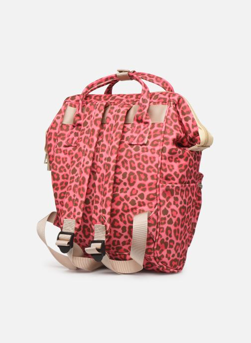 Scolaire Shoesme CHEETAH BACKPACK Rose vue droite