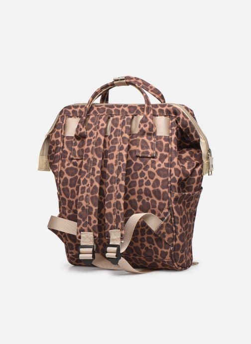 School bags Shoesme CHEETAH BACKPACK Brown view from the right