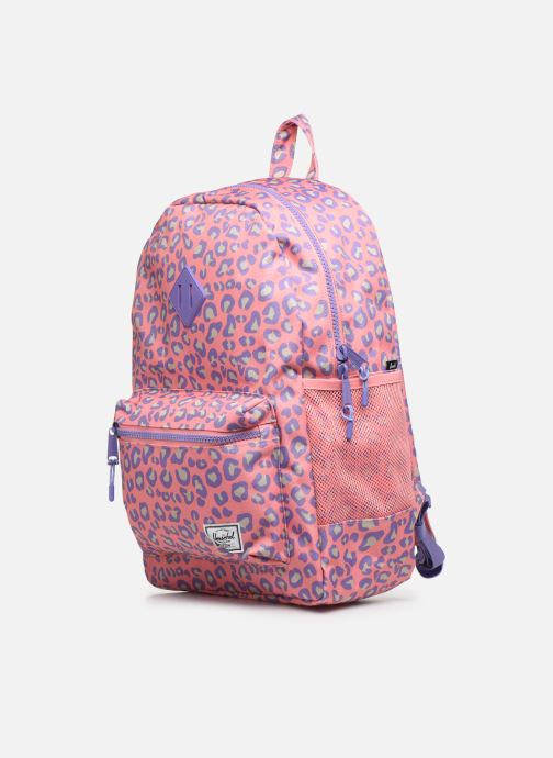 Scolaire Herschel Heritage Youth XL Rose vue portées chaussures