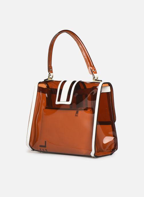 Handtassen Essentiel Antwerp Tumbler large shoulderbag Bruin rechts