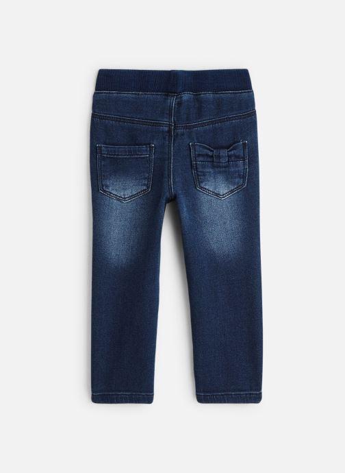 Vêtements 3 Pommes Pantalon Denim Bleu - Ceinture Elastiquée Bleu vue bas / vue portée sac