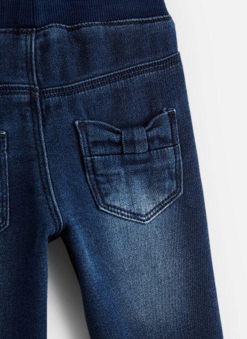 Vêtements 3 Pommes Pantalon Denim Bleu - Ceinture Elastiquée Bleu vue portées chaussures