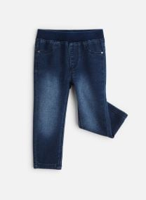 Jean droit - Pantalon Denim Bleu - Ceinture Elasti