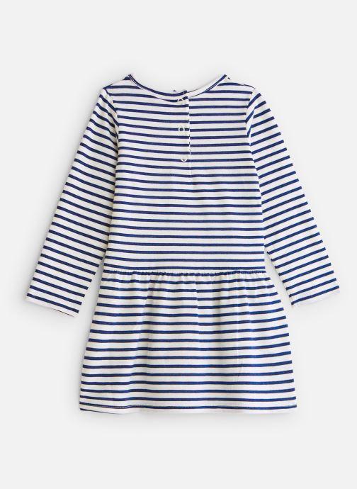 Vêtements 3 Pommes Robe Marinière Pailletée Jersey Blanc vue bas / vue portée sac