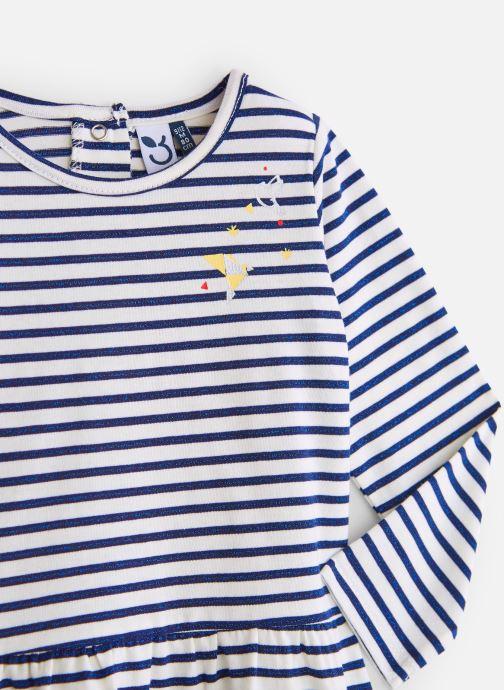 Kleding 3 Pommes Robe Marinière Pailletée Jersey Wit model