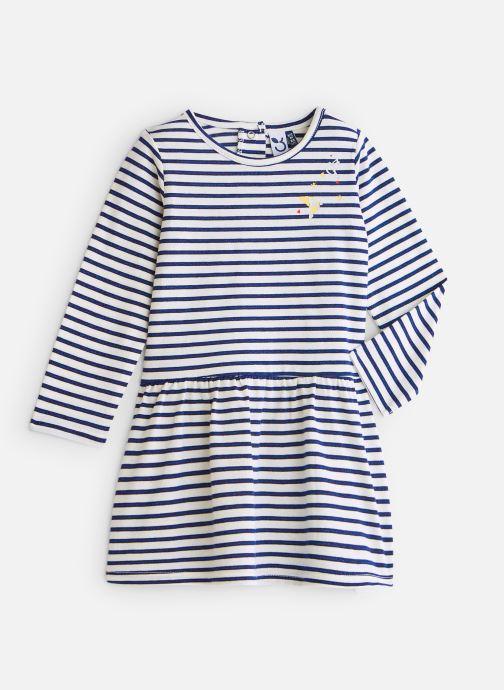 Vêtements 3 Pommes Robe Marinière Pailletée Jersey Blanc vue détail/paire