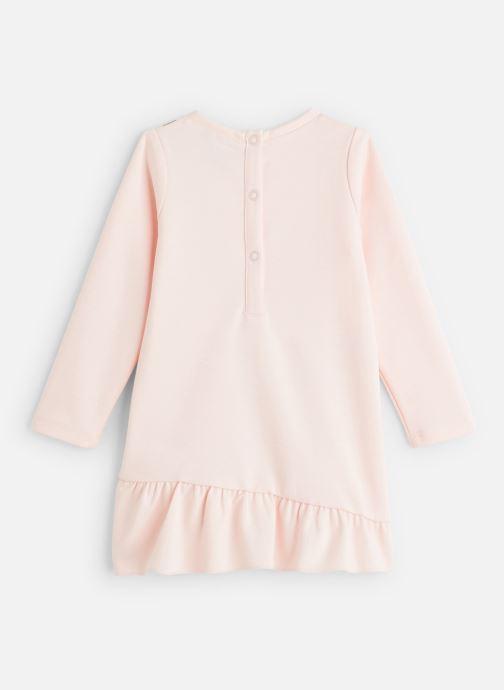 Vêtements 3 Pommes Robe-sweat Milano - Trompe l'œil sac bandoulière Rose vue bas / vue portée sac