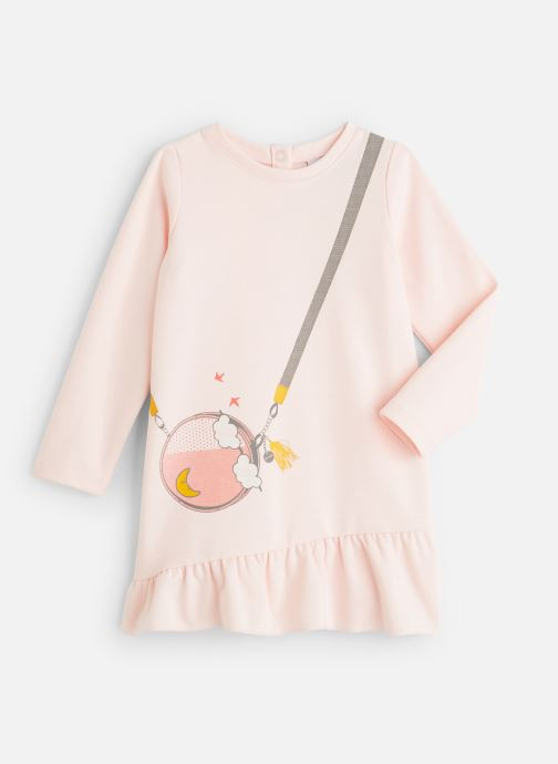 Vêtements 3 Pommes Robe-sweat Milano - Trompe l'œil sac bandoulière Rose vue détail/paire