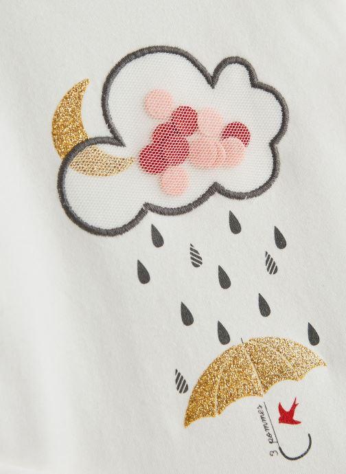 """Vêtements 3 Pommes T-Shirt """"Rêveur"""" Manches Longues Blanc Blanc vue portées chaussures"""