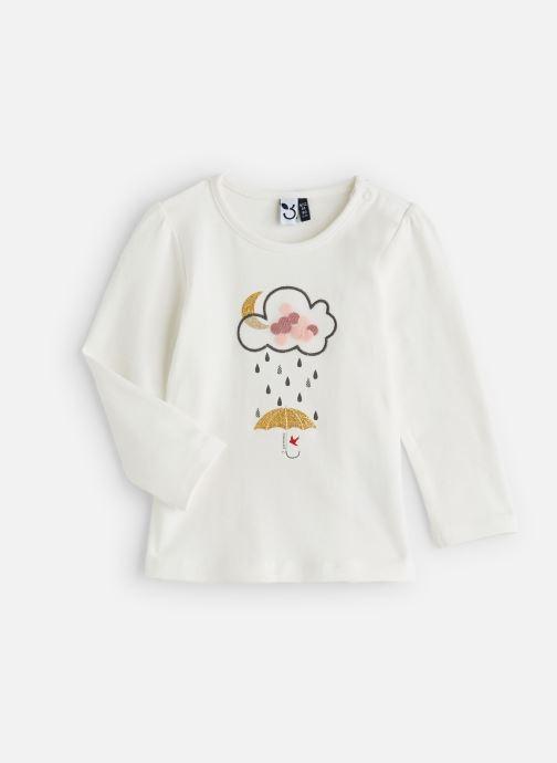 """Vêtements 3 Pommes T-Shirt """"Rêveur"""" Manches Longues Blanc Blanc vue détail/paire"""