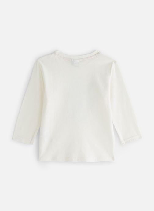 Vêtements 3 Pommes T-Shirt Blanc Tigre Manches Longues Blanc vue bas / vue portée sac