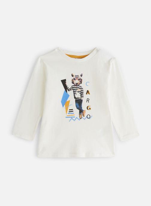 Vêtements 3 Pommes T-Shirt Blanc Tigre Manches Longues Blanc vue détail/paire