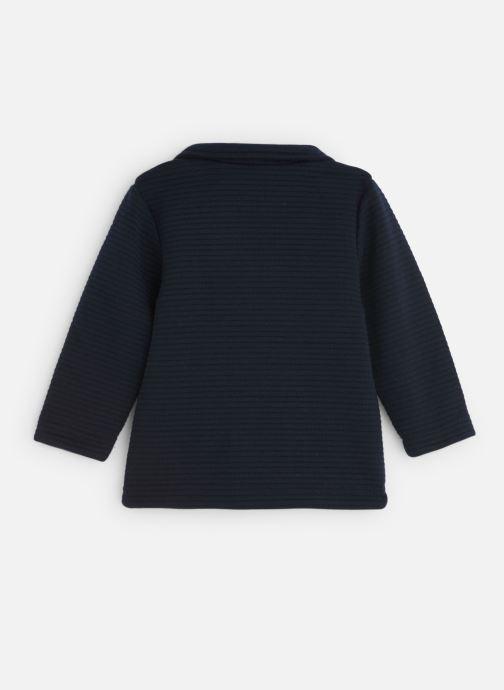 Vêtements 3 Pommes Veste Molleton Fantaisie Bleu Marine Bleu vue bas / vue portée sac
