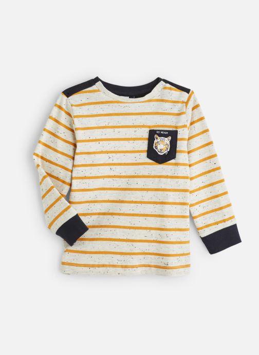 Vêtements 3 Pommes T-Shirt à Rayures Gris et Jaune Moutarde Blanc vue détail/paire