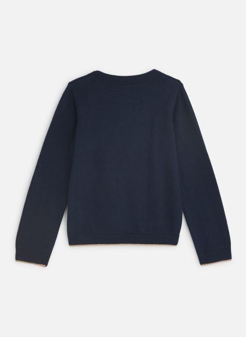 Vêtements 3 Pommes Pull Tricot Renard Bleu vue bas / vue portée sac