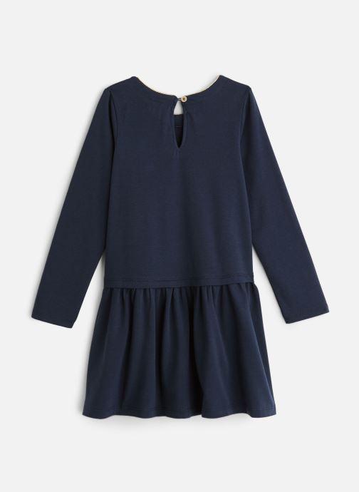 """Vêtements 3 Pommes Robe bleu nuit """"Il était une fois"""" - Jupe plissée Bleu vue bas / vue portée sac"""