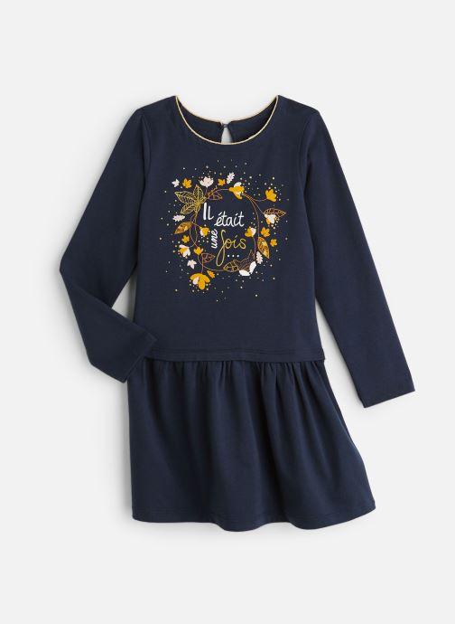 """Vêtements 3 Pommes Robe bleu nuit """"Il était une fois"""" - Jupe plissée Bleu vue détail/paire"""