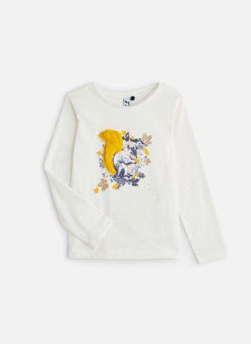 Vêtements 3 Pommes T-Shirt Ecureuil Blanc Cassé Blanc vue détail/paire